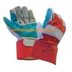 Γάντια δερματοπάνινα με έξτρα παλάμη