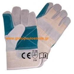 Γάντια δερματοπάνινα art32top
