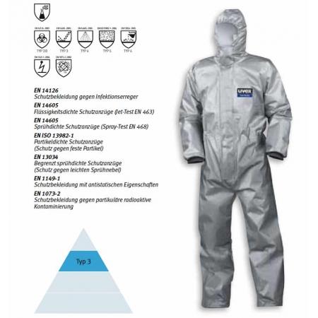 Φόρμα προστασίας uvex sil-Wear 3